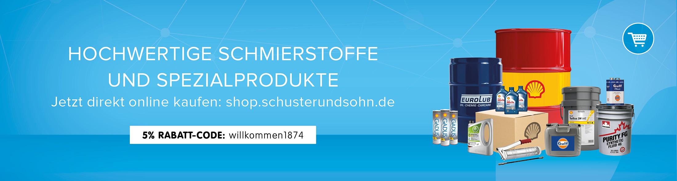 HOCHWERTIGE SCHMIERSTOFFE UND SPEZIALPRODUKTE Jetzt direkt online kaufen: shop.schusterundsohn.de